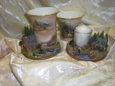 Woodland Haven votive candle holders.