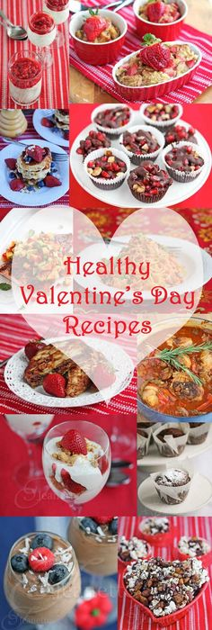 Stay on track with your New Year's habits, 24 Healthy Valentine's Day Recipes. {Jeanettes Healthy Living} #Valentine