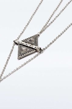 Facet Triangle Statement Pendant Necklace