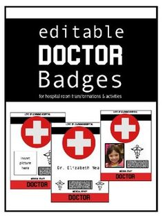 Planning a hospitalsurgery room transformation or activity These badges will be the perfect addition to your lesson Students will feel like real Doctors with their pictur. Kindergarten Classroom, Classroom Themes, School Classroom, Spanish Lessons, Math Lessons, French Language Learning, Teaching Spanish, Spanish Language, Teacher Evaluation