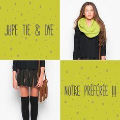 Coup de <3 pour notre jupe Tie & Dye ! Et vous quelle est votre pièce favorite ?! #nicoli #mode #creation #inspiration #tiedye #noel #cadeau #look
