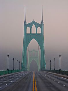 St. John's Bridge, Portland, Oregon.  Go to www.YourTravelVideos.com or just click on photo for home videos and much more on sites like this.