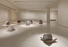 Lee Ufan. i tried. i really did. i read the program; i wandered through. It's Rocks. On. Pillows. I don't get it.