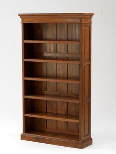 "Solid Mahogany Rosewood Antique Style Bookshelf 72"" X 48"""