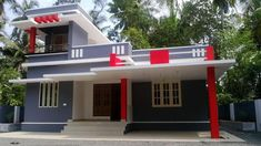 1157 Square Feet 2 Attached Bedroom Low Budget Home Design and Plan - Home Pictures :: Easy Tips Single Floor House Design, Home Design Floor Plans, Simple House Design, Home Building Design, Village House Design, Kerala House Design, House Outside Design, House Front Design, House Elevation