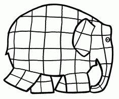 Nice Elmer The Elephant Coloring Page 22 For Your with Elmer The Elephant Coloring Page Book Activities, Preschool Activities, Elephant Template, Elmer The Elephants, Elephant Coloring Page, Elephant Colour, Preschool Letters, Piet Mondrian, Art For Kids