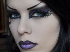 Excellent #Goth eye makeup from makeupdesign.com