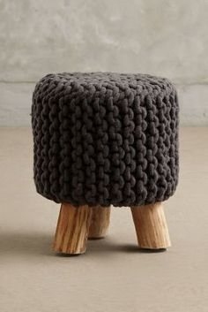 #Anthropologie Handknit Tuffet #anthroregistry