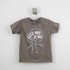 Tshirt toddler organic tree hugger screen printed  2T 4T 6T hipster kid. $20.00, via Etsy.