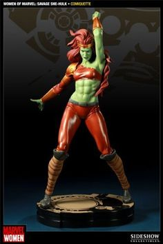 """Women of Marvel: Savage She-hulk Comiquette by Sideshow Collectables. $219.00. 20"""" H x 7"""" W x 9"""" L. Celebrating the Women of Marvel cover art series is Sideshow's Women of Marvel: Savage She-Hulk Comiquette based on the stunning work of comic artist Jelena Djurdjevic. Each piece is individually painted and finished, each with its own unique quality and detail that is the trademark of a handcrafted Sideshow Collectibles product. The Sideshow's Women of Marvel: Savage She-Hulk Co..."""