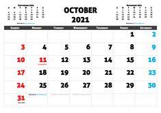 Free Calendar, 2021 Calendar, Calendar Printable, Months In A Year, Free Printables, Resolutions, October, Pdf, Words