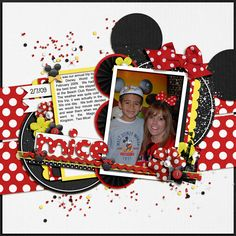 Disney scrapbooking layout by Colins7350