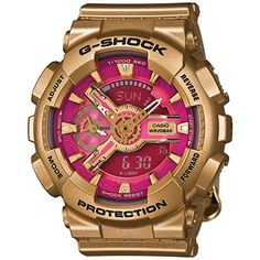 Men's Wrist Watches - Casio GShock G Series Gold Collection Quartz Ladies Watch GMAS110GD4A1 ** You can get additional details at the image link. (This is an Amazon affiliate link)