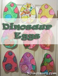 Dinosaur Eggs painting & The Little Grunt - 3 Dinosaurs.com