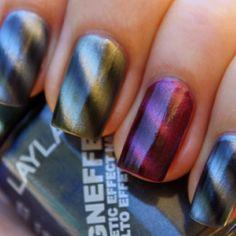 Magnetic Nail Polish! so cool!