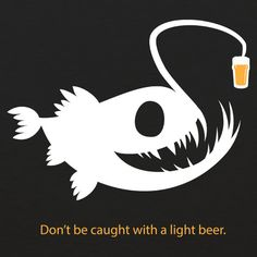 Light Beer Angler Fish WOMENS T-Shirt by Craft Brewed Clothing