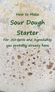 This sour dough starter recipe has two options, one with wild yeast, the other with commercial yeast. Easy Sourdough Bread Recipe, Sourdough Bread Starter, Dough Starter Recipe, Sour Dough Starter, Recipe Sour Dough, Bread Maker Recipes, Bread And Pastries, Fermented Foods, Artisan Bread