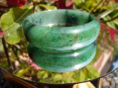 1 Burmese Jadeite A Jade Green Hand Carved Heart Ring USA 13.5sz avail Natural