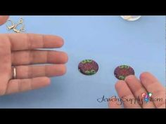 How to use jewelry resin to make brightly colored earrings!