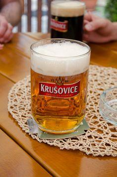Krusovice in Prague, June 2011