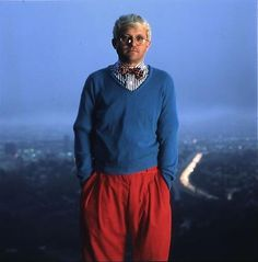 David Hockney in Los Angeles by Annie Leibovitz, 1983.