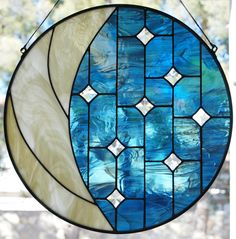 Moon & Stars - Delphi Stained Glass