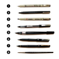 A guide to drawing pens from Inktober