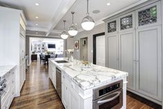 2446 Belmont Road NW Washington DC - Obamas New Home - Kitchen Island
