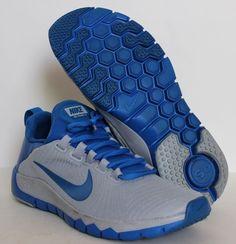 Nike Men's Free Trainer 5.0 Training Shoes 644671 004 Wolf Grey/Blue Size 10 #Nike #RunningCrossTrainingSneakers