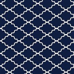 Showcasing a classic lattice motif in navy and white tones, this peel-and-stick wallpaper square brings regrets-free style to any room. Make a bold statement. Contemporary Kitchen Backsplash, Peel Stick Backsplash, Gold Home Decor, Blue Cabinets, Interior And Exterior, Exterior Design, Peel And Stick Wallpaper, Wallpaper Quotes, Wall Prints