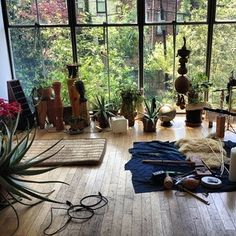 Meditation Room with outside nature view