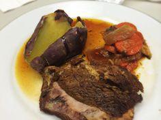 Grass Fed Pot Roast (Au Jus), Sweet Potato, And Carrots and Onions: 1/21/14
