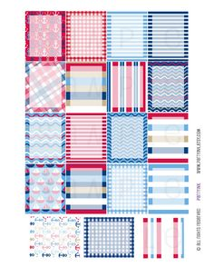 Monthly Planner Stickers  Full Box Nautical by partyINK on Etsy  #erincondren