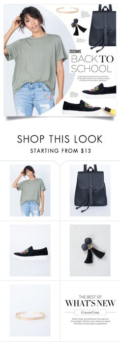 """""""Back to school with 2020AVE"""" by mahafromkailash ❤ liked on Polyvore featuring Double Zero"""