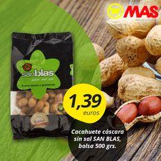 Oferta de #cacahuetes, para una #merienda repleta de energía! Estos frutos secos son muy saludables, con vitamina B3 que es genial para la memoria y ácido fólico, recomendable para las mujeres embarazadas  #oferta #cacahuetes #VidaSana