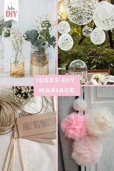 Voici notre sélection d'idées déco spéciales mariage. https://www.tuto-diy.com/evenements/idees-decoration-mariage-a-faire-soi-meme/132?utm_source=pin&utm_medium=pin #DIY #mariage #wedding #deco