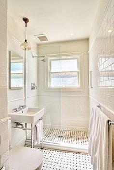 White Subway Tile Bathroom - Design photos, ideas and inspiration. Amazing gallery of interior design and decorating ideas of White Subway Tile Bathroom in bathrooms by elite interior designers. Wet Rooms, Bad Inspiration, Bathroom Inspiration, Ideas Baños, Decor Ideas, Decorating Ideas, Tile Ideas, Interior Decorating, Subway Tile Showers
