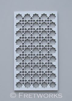 Moroccan Decorative Panel. Could disassemble that old coffee table and make something like this.
