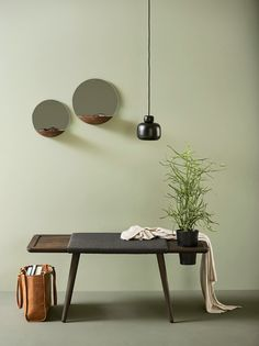 Pocket Mirror by Daniel SchofieldDaniel Schofields designs are characteristic for being reduced to it's minimum. The Pocket Mirror is a combination of two main things every well equipped home entrance...