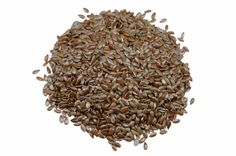 Growing flax: seeds are ready to harvest when the large seed pods are yellow and starting to split open