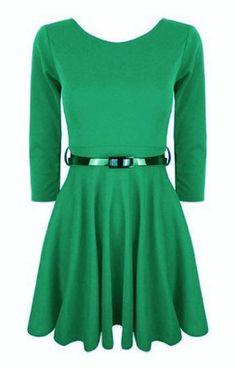 Funky Boutique Womens 3/4 Sleeve Skater Dress Green SM 8-10 Funky Boutique http://www.amazon.co.uk/dp/B00PLTTSCG/ref=cm_sw_r_pi_dp_Yxrfvb1NVN8BA