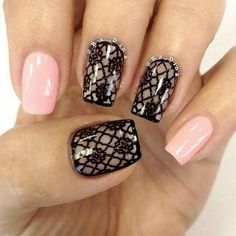 Intricate Lace Nail Art Designs 2019 - Best Of Hair Lace Nail Design, Lace Nail Art, Lace Nails, Lace Art, Nails Design, Pink Nails, Fabulous Nails, Gorgeous Nails, Pretty Nails
