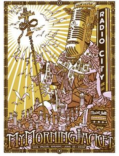 My Morning Jacket NY Concert Poster by Guy Burwell (SOLD OUT)