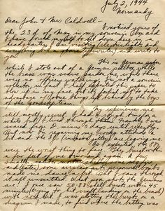 d-day letters home