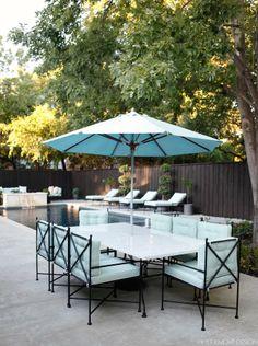 outdoor furniture + pool!