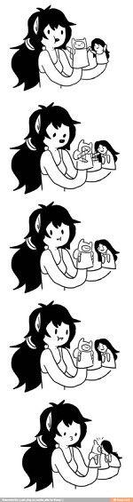 Awww Marceline and Finn!!! X3