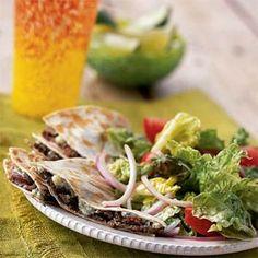 Flank Steak-and-Blue Cheese Quesadilla Salad | MyRecipes.com