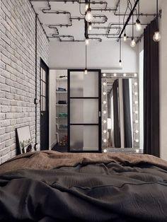 Ontdek hoe u: Ontvang Tips toe Te Passen Industriële Slaapkamer Interieur Industrial Bedroom Design, Industrial Interiors, Industrial House, Industrial Style, White Industrial, Urban Industrial, Loft Interior, Home Interior Design, Ikea Sofas