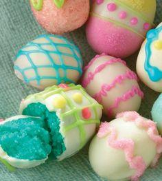Easter Egg Cake Bites Truffles
