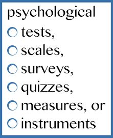 test and measurement psychology - Google Search